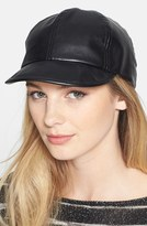 'Boss' Faux Leather Baseball Cap