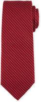 BOSS Textured Dot Silk Tie, Red