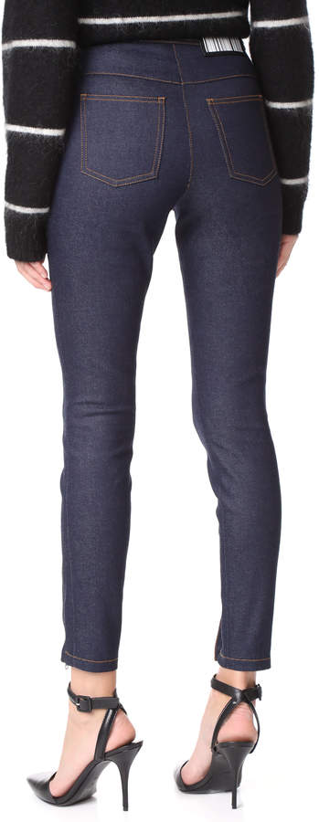 Alexander Wang Multi Snap High Waist Skinny Jeans