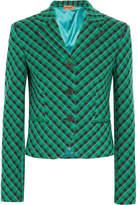 Missoni Checked Wool-blend Blazer - Green
