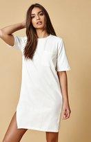 MinkPink Split Front T-Shirt Dress