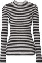 Vince Striped Cashmere Sweater - Gray
