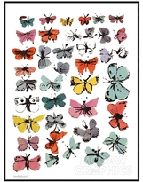McGaw Graphics Butterflies, 1955 by Andy Warhol (Framed)