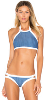 Seafolly Block Party High Neck Tank Bikini Top
