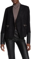 DOLCE CABO Faux Suede Faux Leather Trimmed Jacket