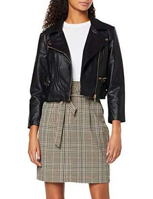 Only Women's Onlbeccy Crop7/8 Faux Leather Jacket OTW Black, Small (Size: )