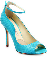 Brian Atwood Myrta Python Ankle-Strap Pumps