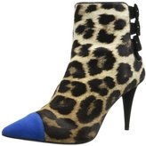 Giuseppe Zanotti Women's Colored Pointy Toe Leopard Bootie