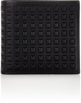 Balenciaga Men's Grid-Embossed Wallet