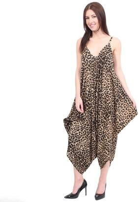 Miss Boho Chic New Ladies Cami Lagenlook Romper Loose Harem Jumpsuit Playsuit Dress Plus Size (XXL -( 20-22)