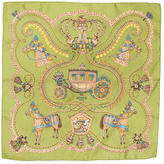 Hermes Paperoles Silk Pocket Square
