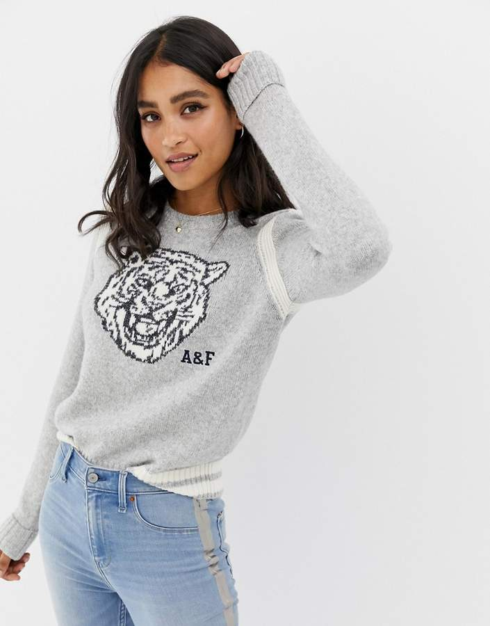 Abercrombie & Fitch tiger knit sweater
