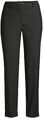 BOSS Women's Tocanes1 Stretch Wool Blend Pinstripe Cuffed Trousers