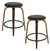 Lumisource Porto Counter Stools (Set of 2)