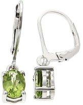 Clevereve Designer Series Sterling Silver Earrings W/ 8Mm Round Genuine Lemon