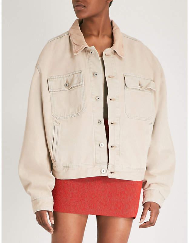 Yeezy Season 6 oversized denim jacket