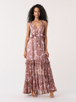 Diane von Furstenberg Misha Ruffled Silk Maxi Dress