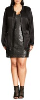 City Chic Plus Size Women's Silky Biker Jacket