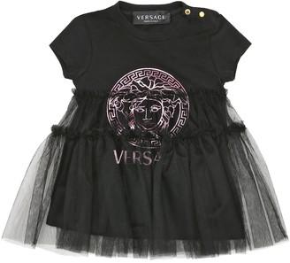 Versace Kids Baby Medusa stretch-cotton dress