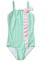 Copper Key Big Girls 7-16 Gingham Ruffle One-Piece Swimsuit