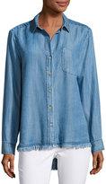 Velvet Heart Camisa Button-Down Shirt, Indigo