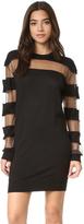 McQ by Alexander McQueen Alexander McQueen Sheer Stripe Dress