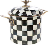 Mackenzie Childs MacKenzie-Childs - Courtly Check Enamel Stockpot - 7L
