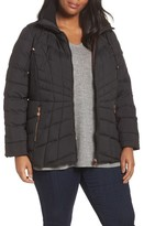 Bernardo Plus Size Women's Packable Water Resistant Down & Primaloft Coat