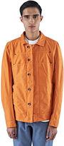 Rick Owens Drkshdw Men's Cotton Twill Lab Jacket In Orange