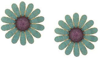 BEGÜM KHAN 24kt gold plated Chamomile earrings