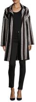 St. John Embroidered Drop Shoulder Belted Jacket