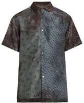 Lanvin Contrasting-print short-sleeved silk shirt