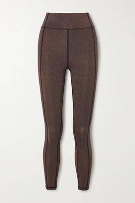 The Upside Aquarius Dance Metallic Stretch Leggings - Bronze