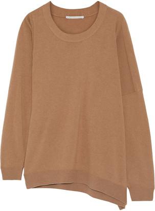Stella McCartney Asymmetric Melange Wool-blend Sweater