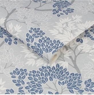 Lykke Tree Navy Wallpaper