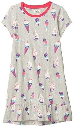 Hatley Cool Treats Flounce Hem Dress (Toddler/Little Kids/Big Kids) (Grey) Girl's Clothing