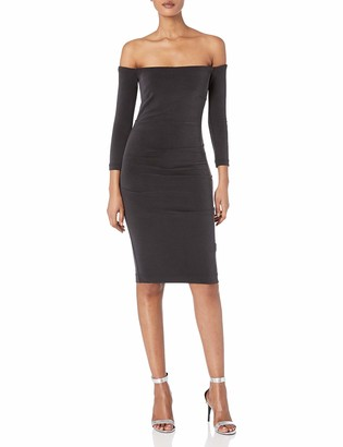 Nicole Miller Women's Cupro Off The Shldr L/s Dress