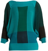 Issey Miyake Colour-block pleated top