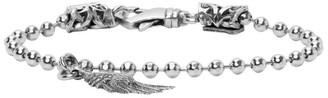 Emanuele Bicocchi Silver Wing Charm Disco Chain Bracelet