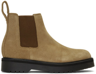 Saturdays NYC Khaki Suede Rick Chelsea Boots