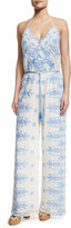 Miguelina Bianca Roselle Scallop Lace Jumpsuit, White