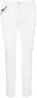Ermanno Scervino Five Pocket White Jeans