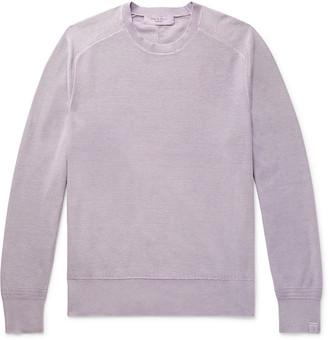 Rag & Bone Lance Slim-Fit Garment-Dyed Cotton Sweater