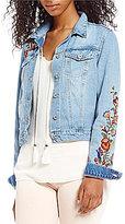 Jessica Simpson Pixie Embroidered Long Sleeve Denim Jacket
