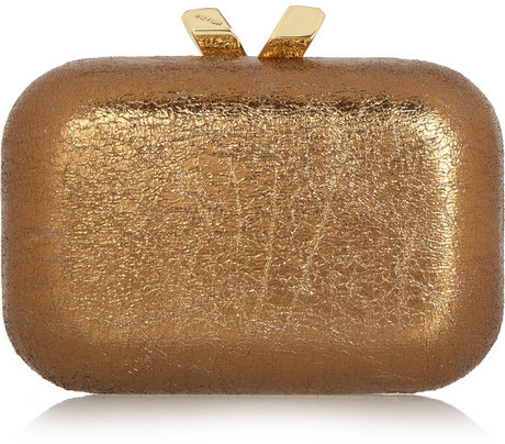 Kotur Margo Crinkle metallic box clutch