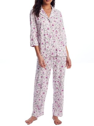 Lauren Ralph Lauren Pink Floral Knit Pajama Set