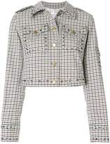 Sonia Rykiel checked cropped jacket