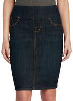 Rock & Republic Women's Wide Waistband Jean Skirt