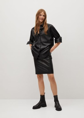 MANGO Seams pencil skirt