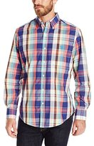 U.S. Polo Assn. Men's Classic Fit Plaid Poplin Long Sleeve Woven Shirt